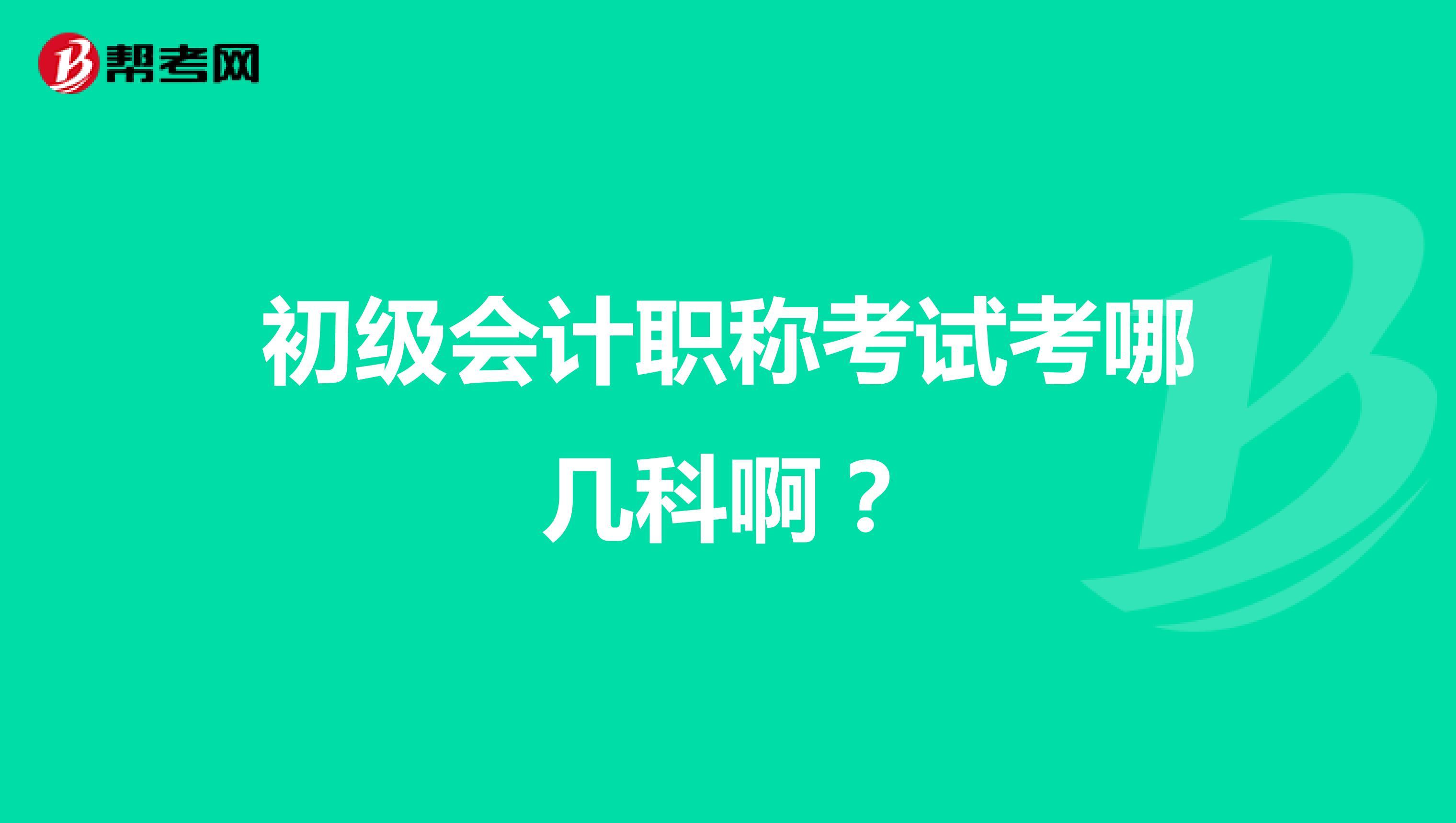(威廉希尔指数欧500指数)初级会计app考试考哪几科啊?